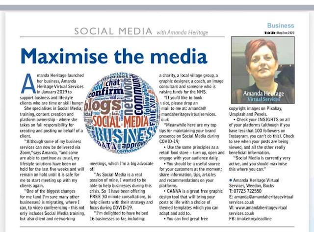 Maximising The Media